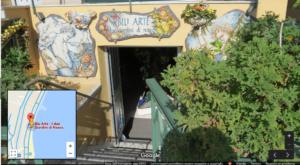 Entrata negozio ceramica BluArte Giardini Naxos Taormina