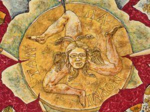 trinacria particolare tavolo 1 300x225 - Trinacria: the symbol of Sicily