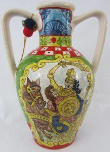 Orlando Angelica Blog 217x300 - Il carretto siciliano nella ceramica di BluArte a Giardini Naxos
