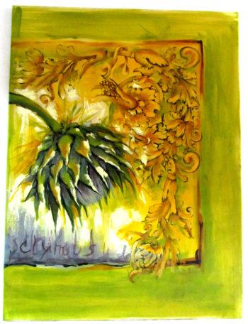 IMG 5372 350x456 - Trittico Cynara  80 x 180 cm