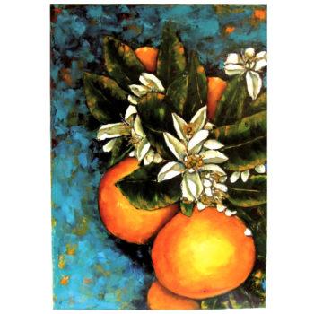 Quadro con arance siciliane e zagare