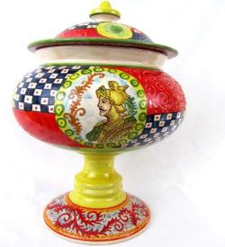 ca7 250x275 - Vaso con coperchio Orlando 36 x 24 cm (cod. CA7)