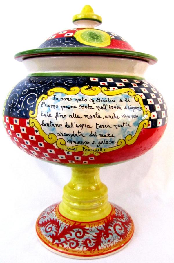 ca7dmod scaled 600x909 - Vaso con coperchio Orlando 36 x 24 cm (cod. CA7)