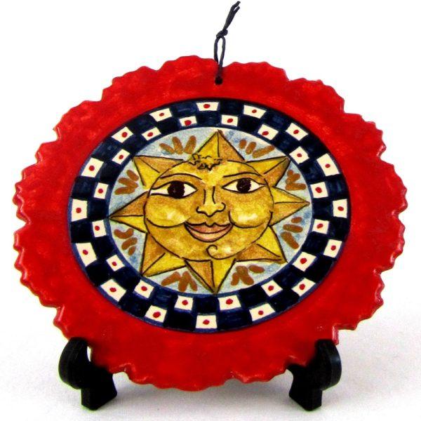 ca73ant 600x600 - Mattonella sole rossa 14 cm (cod. CA73)