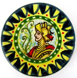 ca78ant 250x252 - Piattino paladino giallo blu 8 cm (cod. CA78)
