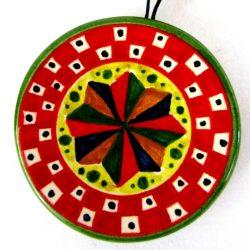 ca79ant 250x250 - Piattino rosso ventaglio 8 cm (cod. CA79)