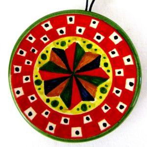 ca79ant 300x300 - Piattino rosso ventaglio 8 cm (cod. CA79)