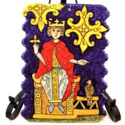 """med3ant 250x250 - Mattonella """"Federico II di Svevia"""" 24 x 17 cm (cod. MED3)"""