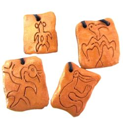 rongo.ant  250x250 - Rongorongo di Rapanui ca 3 x 4 cm (cod. COL23)