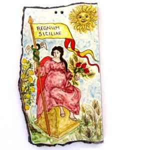 rappresentazione della Sicilia tra sole, limoni e cereali antichi.