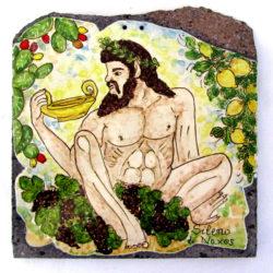 sileno di Giardini Naxos con limoni, uva e fichi d'india