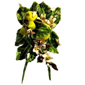 limoni siciliani e zagare di ceramica