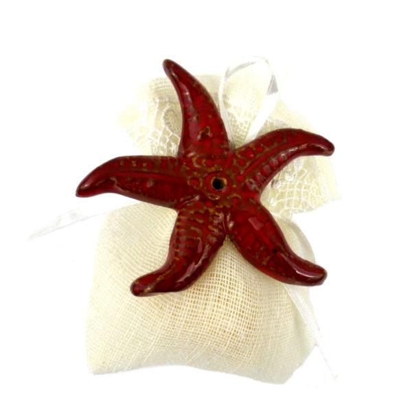 bomboniera.stella.rossa  600x600 - Bomboniera stella marina 6 x 6 cm