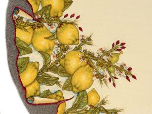 2b.tavolo limoni particolare2 300x225 - tavolo limoni ceramiche siciliane