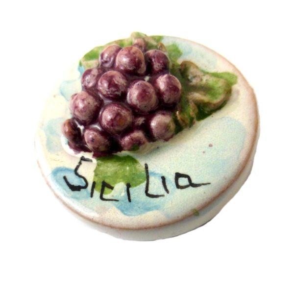 calamita ceramica mini uva siciliana