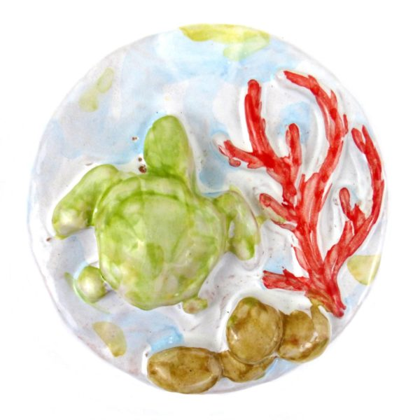 calamita mare tartaruga ceramica siciliana