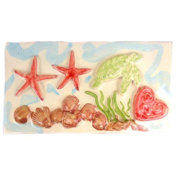 ceramica giardinese tema marino